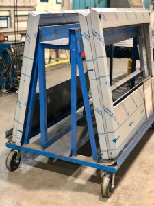 Stainless Steel Fabrication material handling cart for custom metal