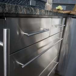 fully welded stainless steel cabinets for residential and medical