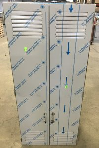 Ventilated stainless cabinet